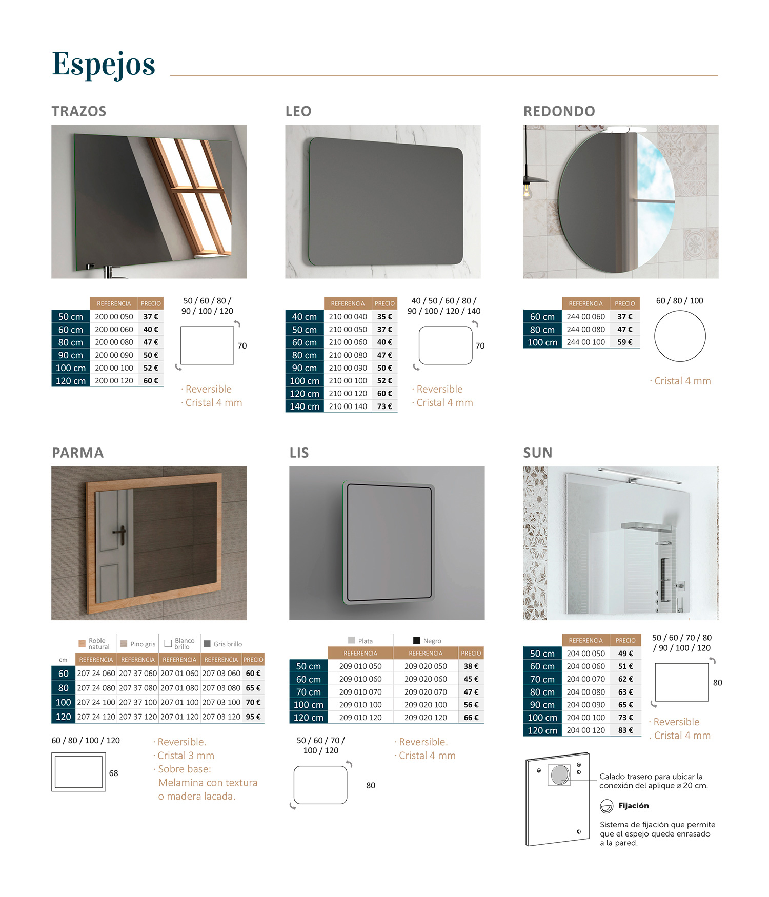 Mueble de baño Espejos Sánchez Baños