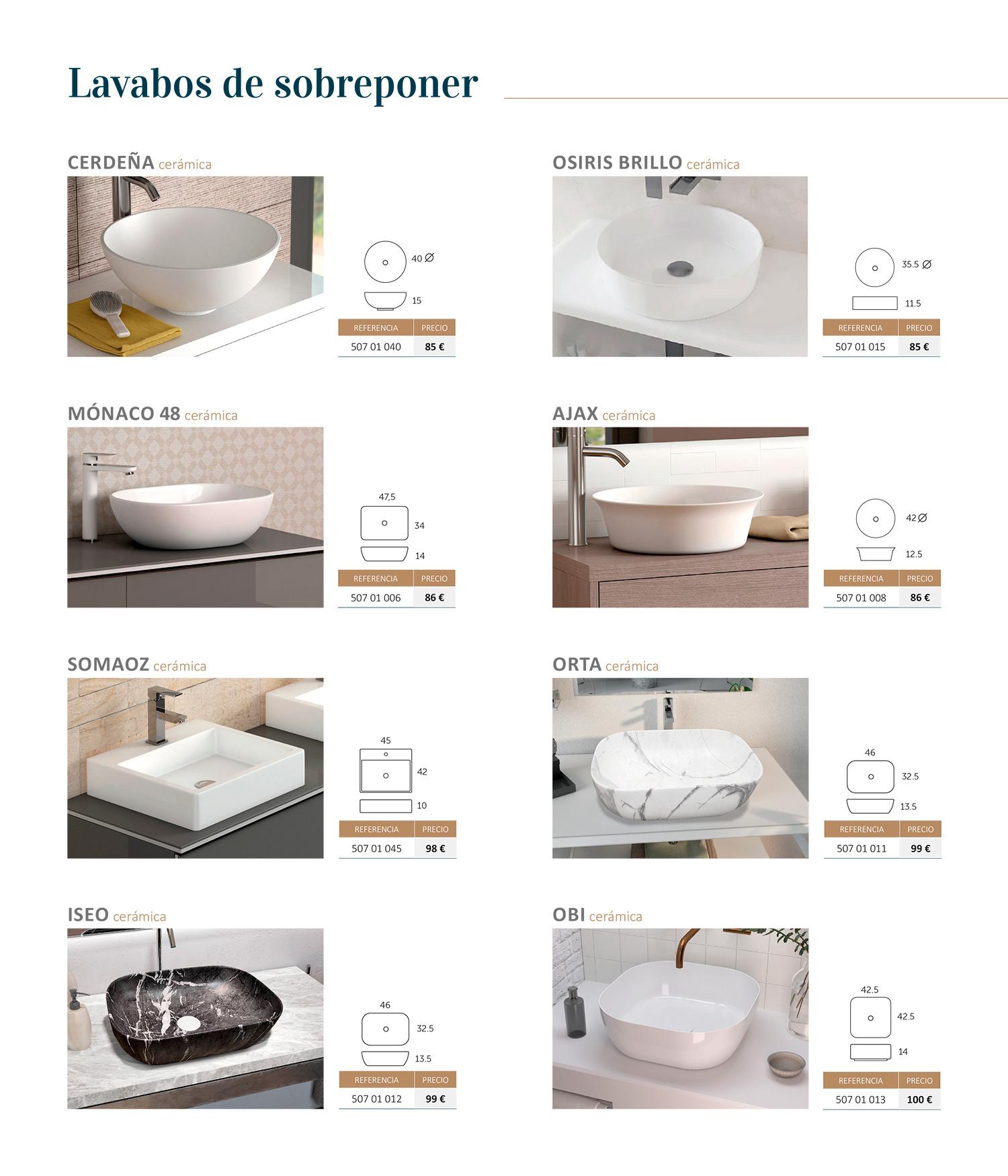 Mueble de baño Lavabos Sobreponer Sánchez Baños