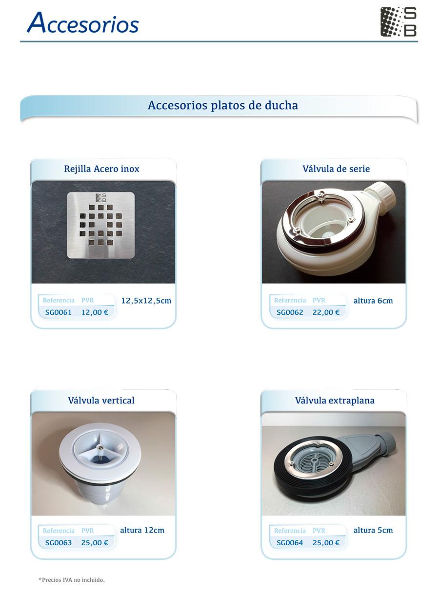 Accesorios de platos de ducha