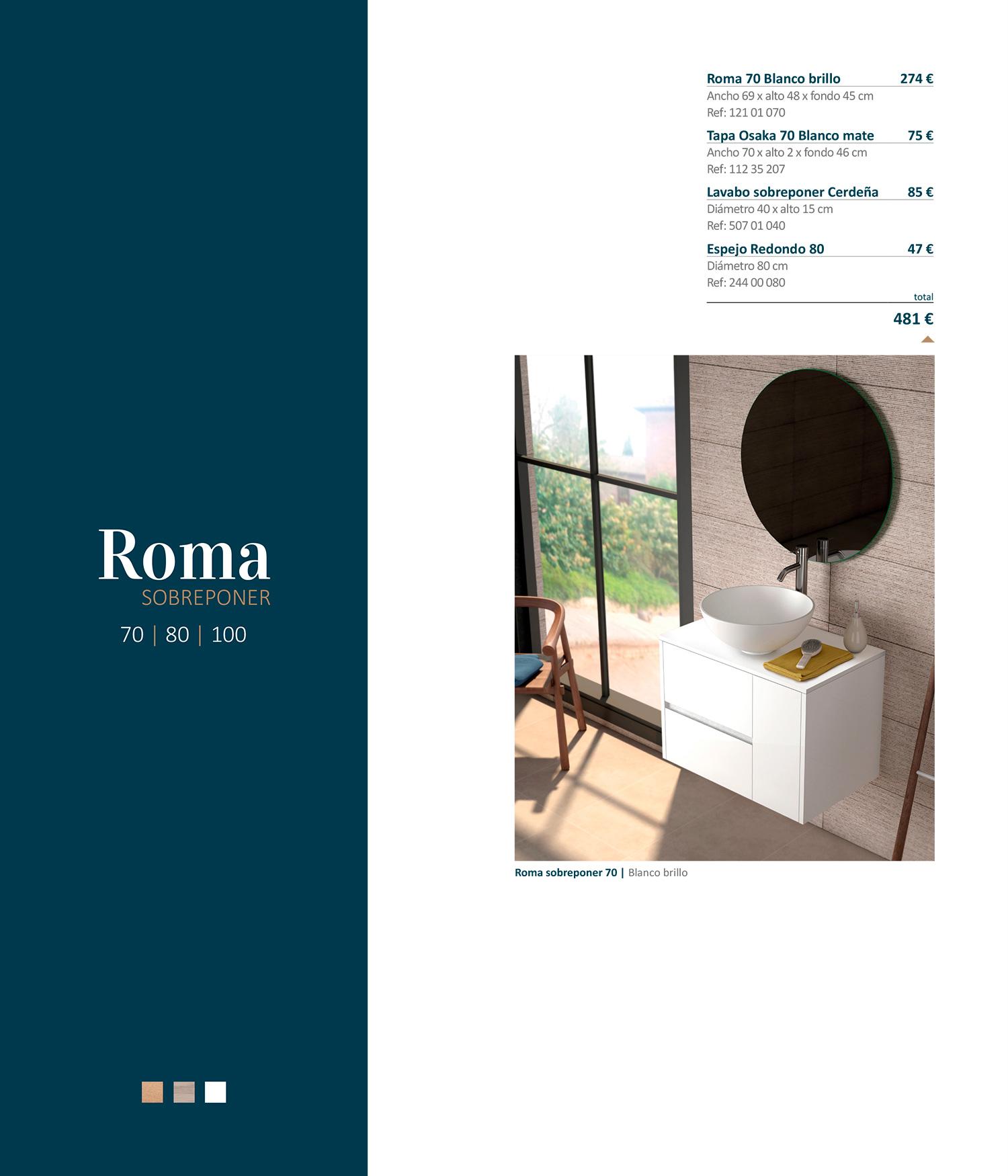 Mueble de baño Roma Sobreponer Sánchez Baños