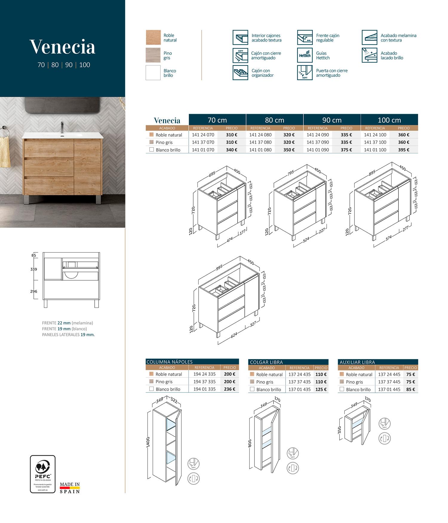 Mueble de baño Venecia Sánchez Baños